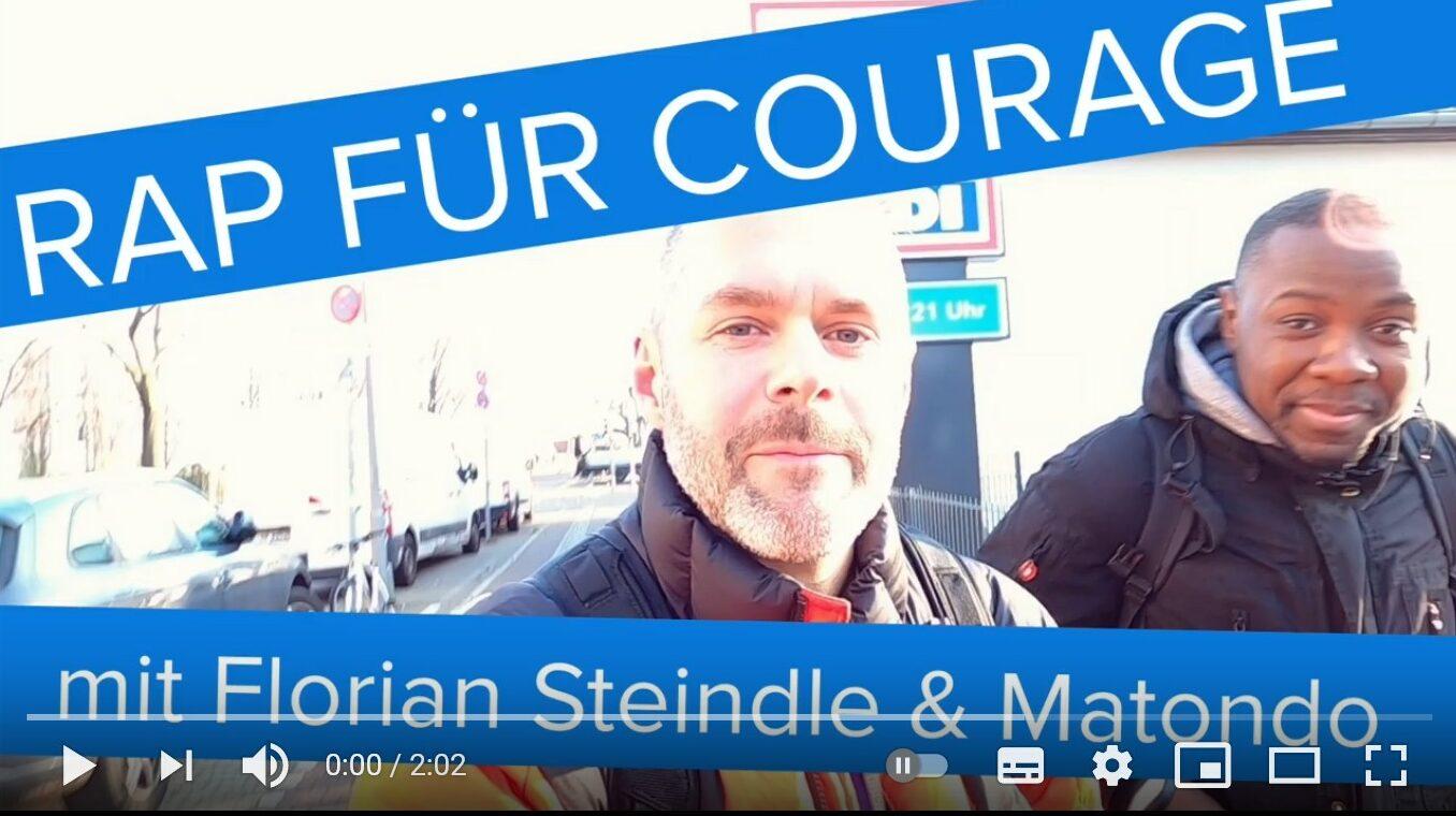 Die Rap-Team Matondo und Florian Steindle im Bild